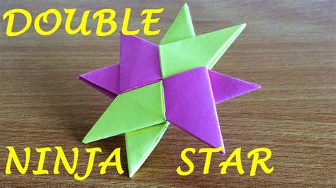 double ninja star shuriken origami
