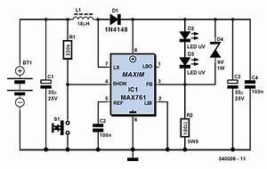 Uv Torch Light Schematic Circuit Diagram