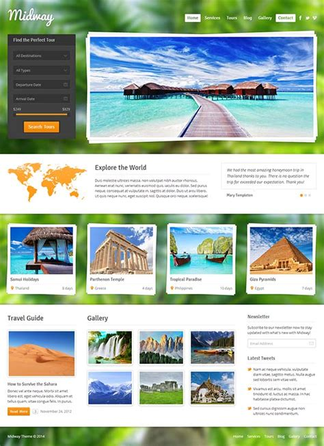 website template  travel agency template  travel