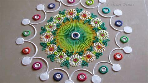 small  quick rangoli design simple craft ideas