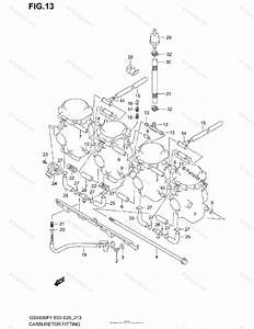 Suzuki Motorcycle 1999 Oem Parts Diagram For Carburetor Fittings