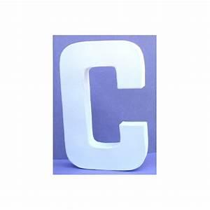 Lettre En Carton À Peindre : lettre 3d en carton c 20cm maison pratic boutique pour vos loisirs creatifs et votre deco ~ Nature-et-papiers.com Idées de Décoration