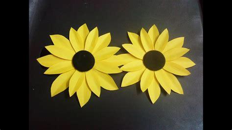 paper flower tutorial sunflower paper