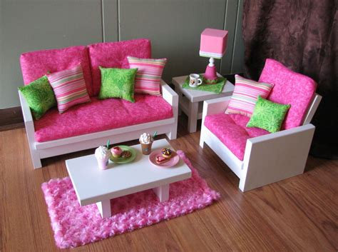 American Doll Living Room Plans by 18 Doll Furniture American Sized Living By