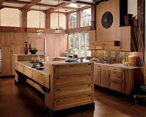 Ilot Central Bois : les plus belles cuisines rustiques en images ~ Teatrodelosmanantiales.com Idées de Décoration