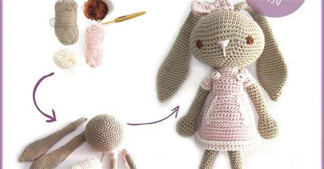 peluche de crochet conejita de orejas largas amigurumi amigurumi crochet and crocheted toys