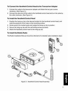 Motorola Mototrbo Xpr5550 Handheld Control Head  Hch