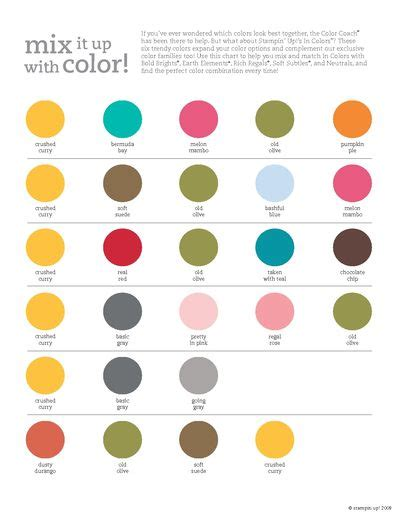 stin up 2009 2010 in color combinations chart