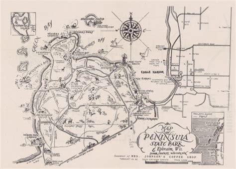door county tax records map of peninsula state park ephraim door county