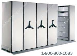 High Cabinet With Drawers by Compact Mechanical Assist Shelving Hand Crank Bulk Racks