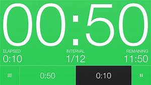 10, 50, Second, Interval, Timer, 12, Rounds
