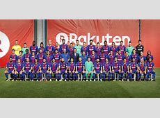 FC Barcelona's men's and women's team posed together today