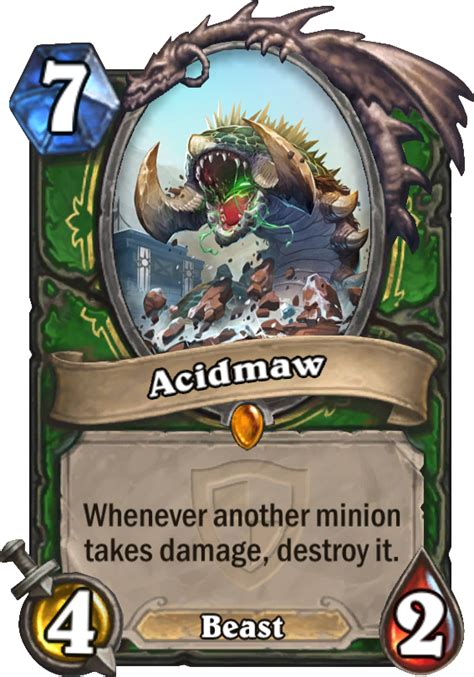 hearthstone beast deck 2015 acidmaw hearthstone card