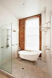 Couleur Mur Salle De Bain : le mur en brique d cors spectaculaires ~ Dode.kayakingforconservation.com Idées de Décoration