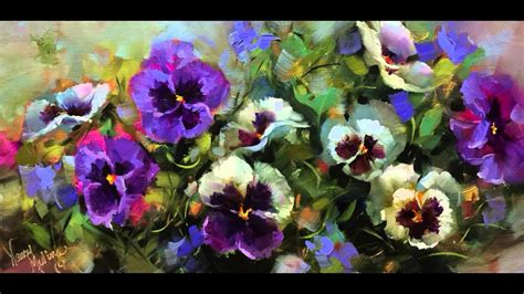How To Paint Pansies Step By Step