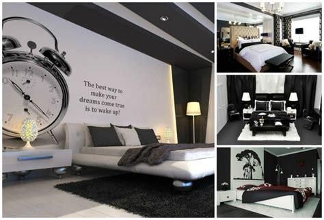 deco chambre noir et blanc déco noir et blanc avec touches de couleur chambre à coucher