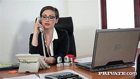 Black Haired Babysitter Is Drilling Tough By Her Boss