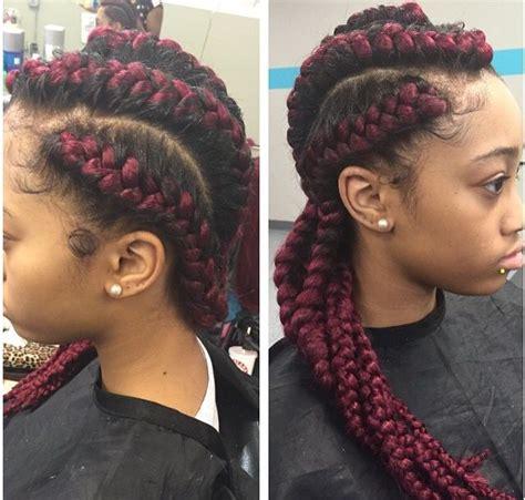 graceful lifestyle burgundy cornrow hairstyles