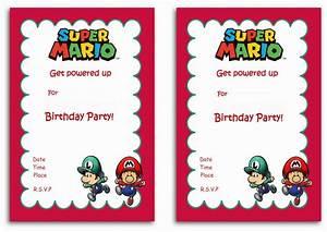 Super Mario Birthday Invitations Birthday Printable