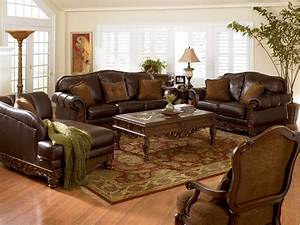 Best luxury brown leather living room sets raysa house for Est living room sets