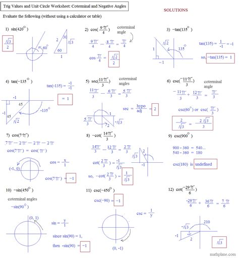 newest lesson 12 1 trigonometric ratios worksheet answers