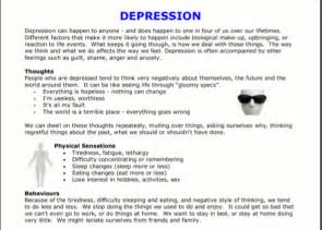 Depression Worksheet Image