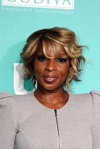 Mary J Blige Celebrity Black Hair Styles Pictures