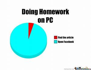 Doing Homework On PC Funny Meme Picture