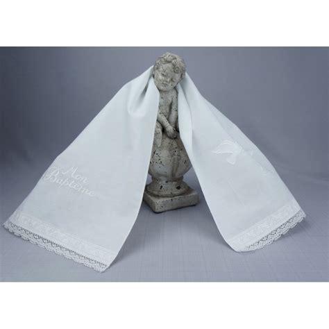 echarpe linge blanc ou v 234 tement blanc pour c 233 r 233 monie bapt 234 me communion