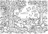 Nature Forest Coloring Pages Printable Drawing Kb Drawings sketch template
