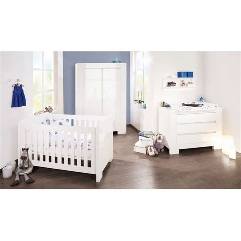 chambre bebe la redoute chambre bébé sky blanc lit évolutif commode armoire