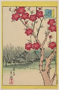 Utagawa Hiroshige II: Peach Blossoms at Koshigaya in the ...