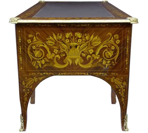 table bureau empire desk marquetry inlay bureau plat writing table