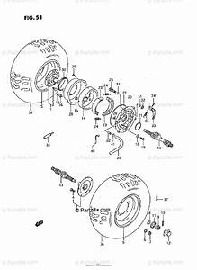 Suzuki Atv 1994 Oem Parts Diagram For Rear Wheel  Model M