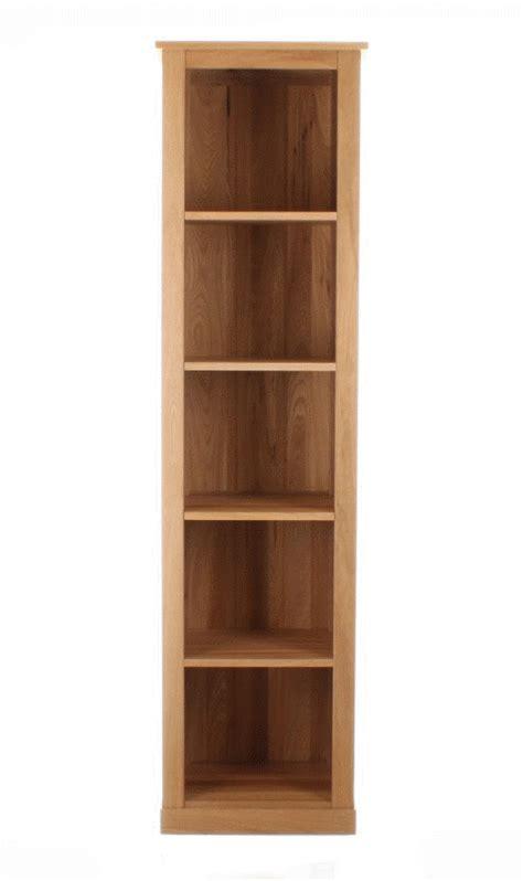 Tall Narrow Solid Oak Bookcase  Mobel Oak