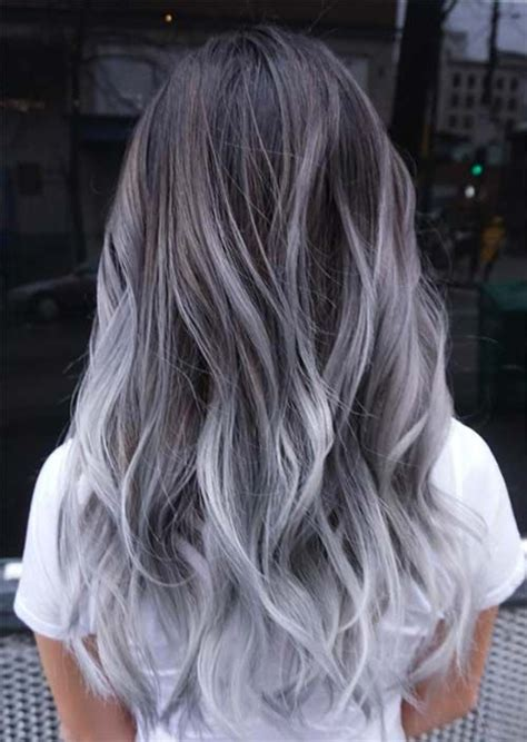 silver hair trend  cool grey hair colors tips