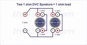 Subwoofer Wiring Diagrams  Two 1 Ohm Dual Voice Coil  Dvc