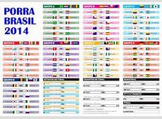 Porra Mundial Brasil 2014 descarga el cuadro con todos