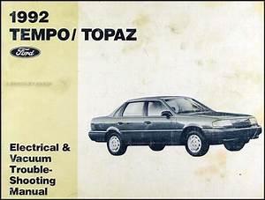 1992 Ford Tempo Mercury Topaz Electrical Vacuum