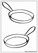 Pan Frying Coloring sketch template