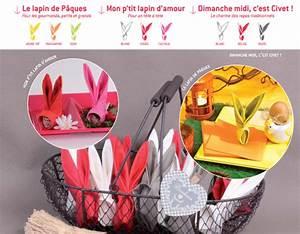 Pliage Serviette Lapin Simple : pliage de serviette le lapin blog jour de f te ~ Melissatoandfro.com Idées de Décoration
