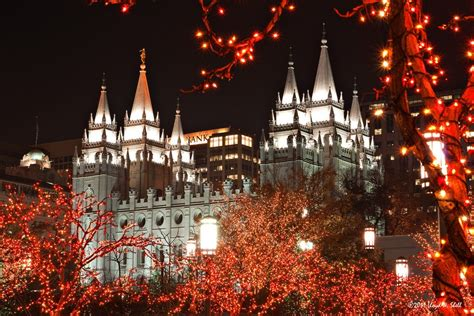lights temple square salt lake city utah