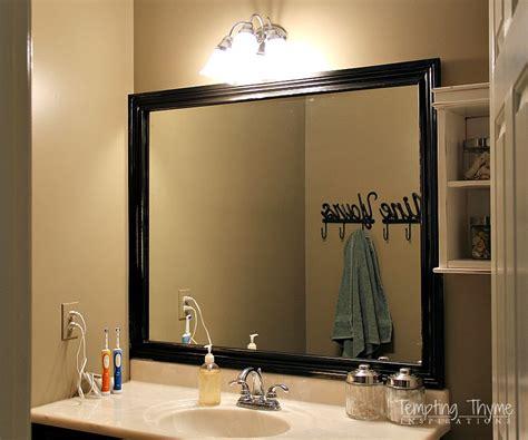framing a bathroom mirror tempting thyme