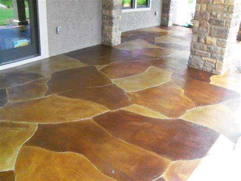 staining concrete beautiful concrete staining is your new home project enhancement macedonia info
