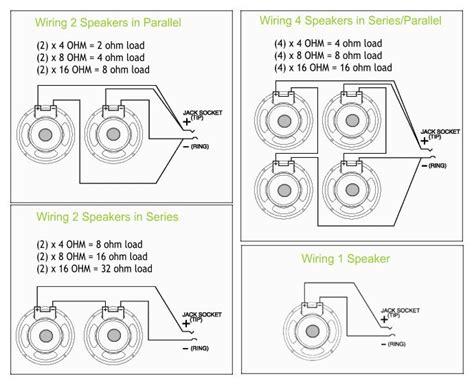 speaker wiring diagram series vs parallel ohm load 50