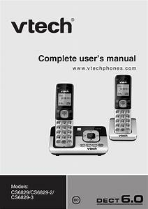 Vtech Cs6829 Manual User Manual