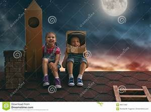Children Playing Astronauts Stock Photo - Image: 69577262