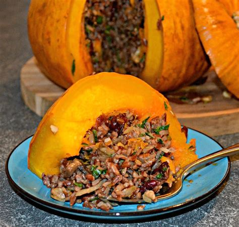 Roast Stuffed Pumpkin A Virtual Vegan