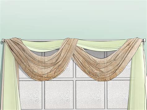 ways to drape a scarf 3 ways to drape window scarves wikihow