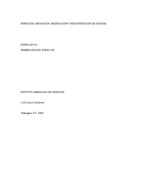 API 653 Inspeccion Reparacion Modificacion Reconstruccion